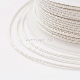 Braided nylon thread, ivory, 1,5 mm, 1 roll/12 m