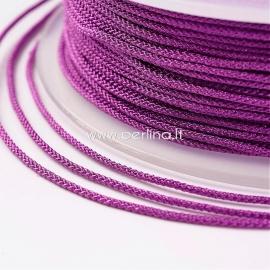 Braided nylon thread, fuchsia, 1,5 mm, 1 roll/12 m