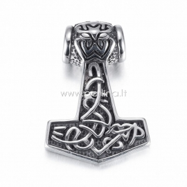 """Pendant """"Thor's hammer"""", 304 stainless steel, 48x33x12 mm"""