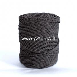 Sukta medvilninė virvė, juoda sp., 6 mm, 200 m