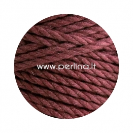 Sukta medvilninė virvė, raudono vyno sp., 3 mm, 260 m