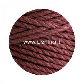 Sukta medvilninė virvė, raudono vyno sp., 3 mm, 140 m