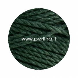 Sukta medvilninė virvė, samanų žalia sp., 3 mm, 260 m