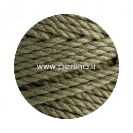 Sukta medvilninė virvė, chaki sp., 4 mm, 160 m