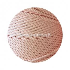 Sukta medvilninė virvė, šviesi rožinė sp., 3 mm, 260 m