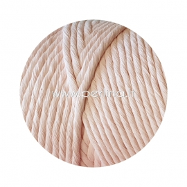 Pasukta medvilninė virvė, šviesiai rožinė sp., 5 mm, 160 m