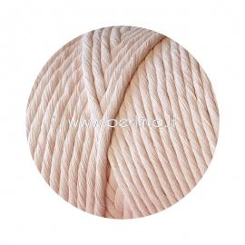 Pasukta medvilninė virvė, šviesiai rožinė sp., 3 mm, 140 m
