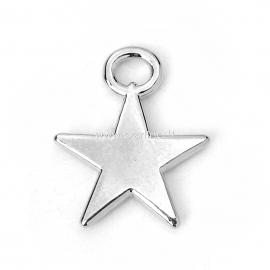 Pakabukas penkiakampė žvaigždė, sidabro sp., 17x14 mm