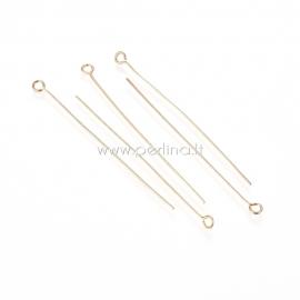 Smeigtukas su kilpele, nerūdijantis plienas, aukso spalvos, 50x0,6 mm, 1 vnt.
