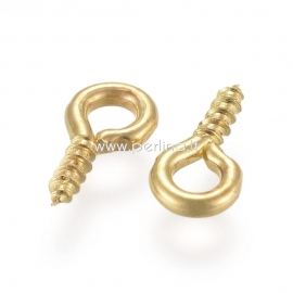 Įsukamas laikiklis, aukso sp., 8x4x1 mm, 1 vnt.