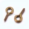 Įsukamas laikiklis, antikinės bronzos sp., 8x4x1 mm, 1 vnt.