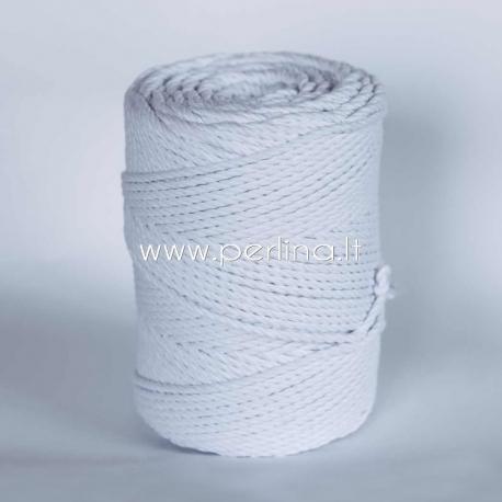 Sukta medvilninė virvė, balta sp., 4 mm, 160 m
