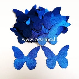 Fabric butterfly, royal blue, 1 pc, select size