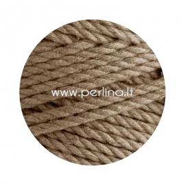 Sukta medvilninė virvė, balintos kavos sp., 3 mm, 260 m