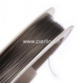 Tiger Tail Wire, light grey, 0.38mm, 50m