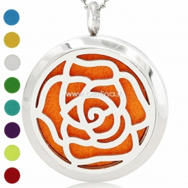 """Aromatherapy essential oil diffuser pendant """"Flower"""", 30 mm, 1 pc"""