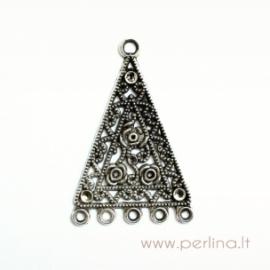 Tibeto sidabro trikampio formos paskirstytojas, 46x30 mm