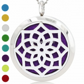 "Aromatherapy essential oil diffuser pendant ""Lotus Flower 1"", 30 mm, 1 pc"
