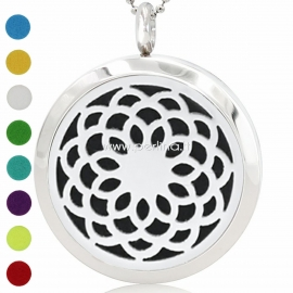"""Aromatherapy essential oil diffuser pendant """"Flower of Life"""", 30 mm, 1 pc"""