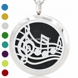 """Aromatherapy essential oil diffuser pendant """"Musical Note"""", 30 mm, 1 pc"""