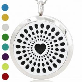 "Aromatherapy essential oil diffuser pendant ""Heart"", 30 mm, 1 pc"
