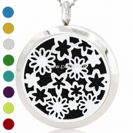 """Aromatherapy essential oil diffuser pendant """"Flowers"""", 30 mm, 1 pc"""