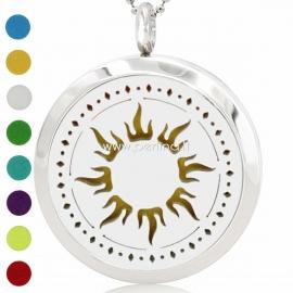 """Aromatherapy essential oil diffuser pendant """"Sun"""", 30 mm, 1 pc"""