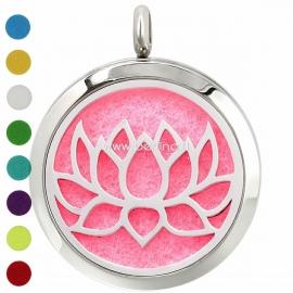 "Aromatherapy essential oil diffuser pendant ""Lotus 2"", 30 mm, 1 pc"