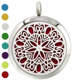 """Aromatherapy essential oil diffuser pendant """"Flower 2"""", 30 mm, 1 pc"""