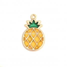 """Pakabukas """"ananasas"""", paauksuota, 28x17 mm"""