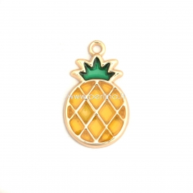 """Pendant """"Pineapple"""", gold plated, 28x17 mm"""