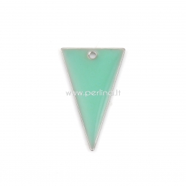 """Pendant """"Triangle"""", light green gold plated, 22x13 mm"""