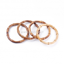 Bag handle, bamboo ring, 12,2 cm, 2 pcs