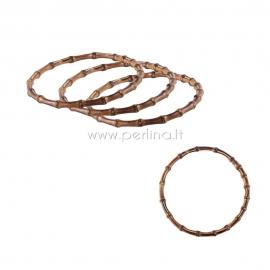 Bag handle, bamboo ring, 17,3 cm, 2 pcs