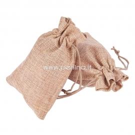 Džiuto dovanų maišelis, 13,5x9,5 cm
