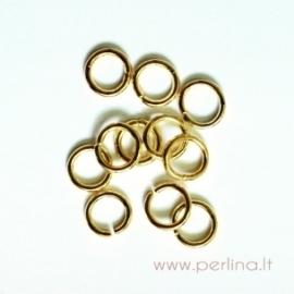 Aukso sp. žiedelis, 7 mm, 10 vnt