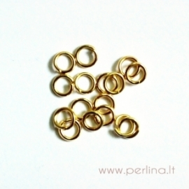 Aukso sp. žiedelis, 3 mm, 10 vnt
