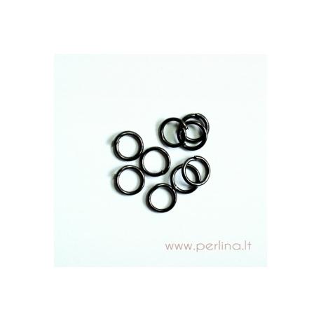 Juodos sp. žiedelis, 5 mm, 10 vnt