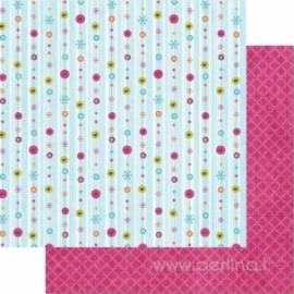 "Popierius ""Snowflake Stripes"", 30,5x30,5 cm"