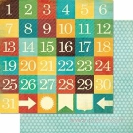 "Popierius ""Day Dates"", 30,5x30,5 cm"