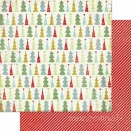 """Popierius """"Christmas Trees"""", 30,5x30,5 cm"""