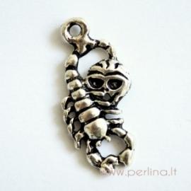 "Tibeto sidabro pakabukas ""Skorpionas su kaukole"", 29,8x13,1 mm"