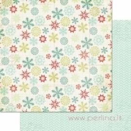 "Popierius ""Snowflakes"", 30,5x30,5 cm"