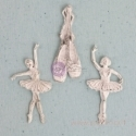 "Dek.detalės ""Shabby Chic Treasure Ballerina"", 3 vnt."