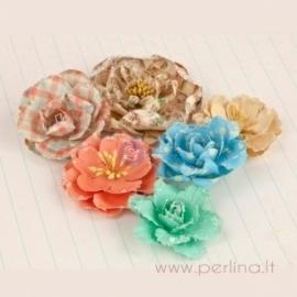 """Satino gėlytė """"Rožė"""", 2,2 cm"""