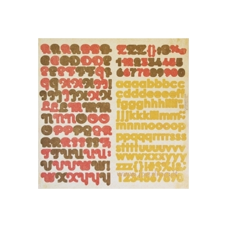 """Raidžių lipdukai """"Alpha"""", 30,5x30,5 cm"""