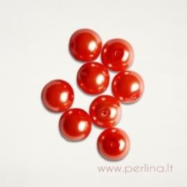 Stiklinis perlas, persikų sp., 10 mm