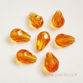 Stiklo karoliukas, oranžinis, 12 mm