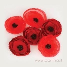 """Medžiaginės gėlytės """"Poppies & Peonies"""", 6 vnt."""
