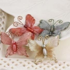 "Medžiaginiai drugeliai ""Mariposa Marble"", 4 vnt."
